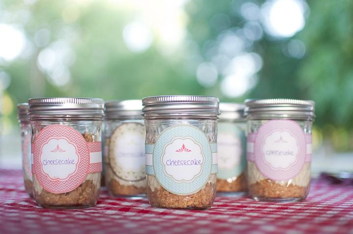 Mason Jar Cheesecakes